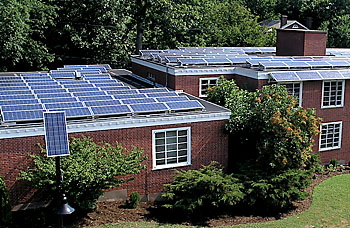 Solar panels atop YDS housing buildings