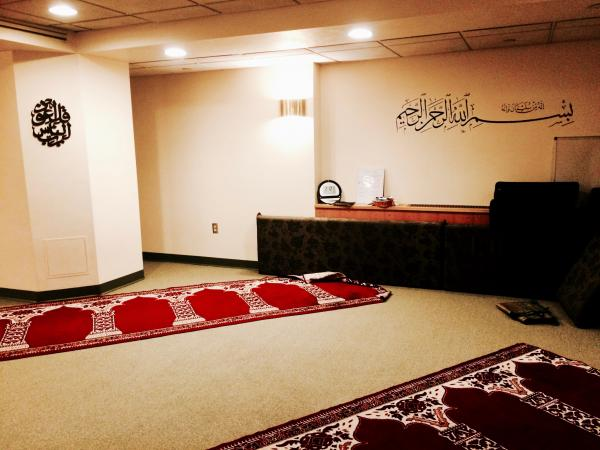 Reverse angle of the Muslim prayer room at the Chaplain's Office