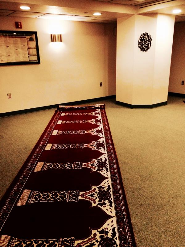 The Muslim prayer room at the Chaplain's Office