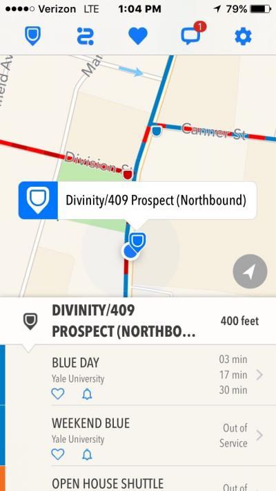 Screenshot of the Yale app