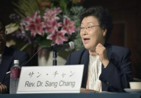 Rev. Dr. Sang Chang of the World Council of Churches delegation