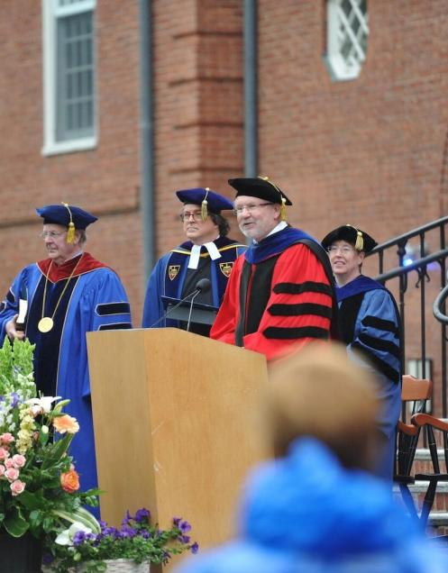Dean Sterling at Commencement