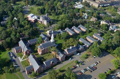 Arial view of the Sterling Divinity Quadrangle