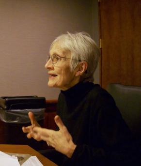 Marilyn McCord Adams at her desk