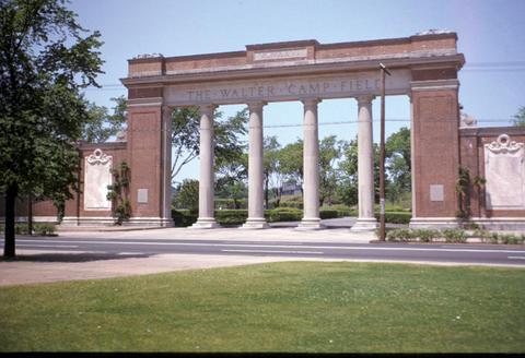 Yale Bowl entrance - 1951