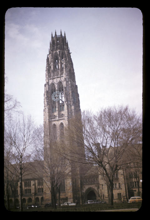 Yale Harkness Tower - April, 1952