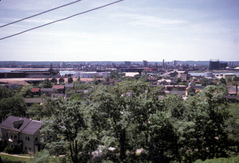 View from Castle Restaurant New Haven - June, 1952