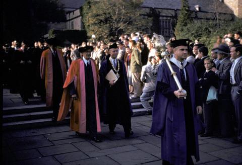 Yale graduation 250th anniversary June 8, 1952