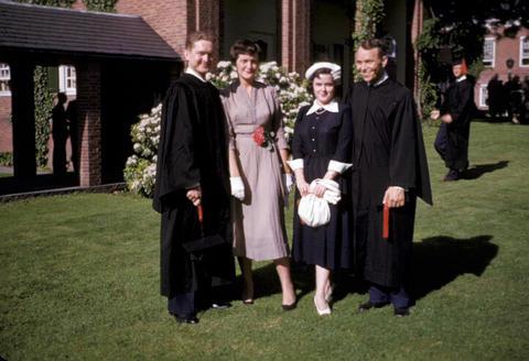 YDS Frank Beach, church - 1952