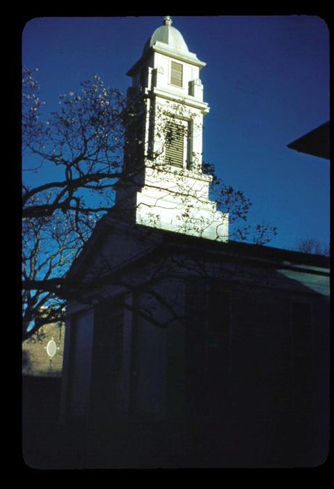 Seymour Congregational Church tower - 1949