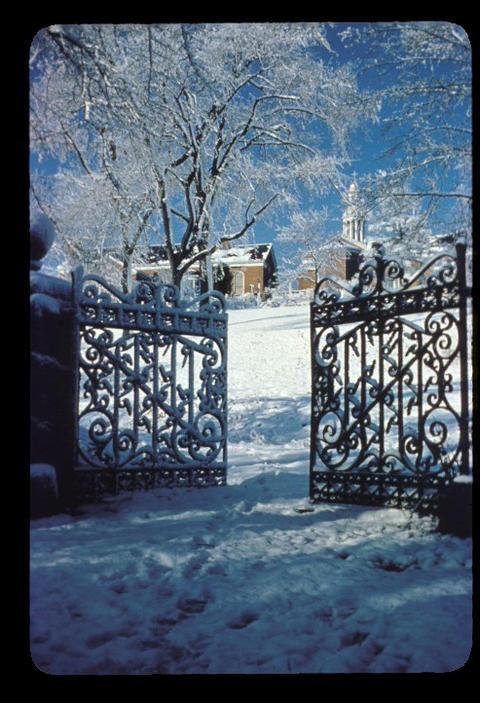 Gate behind campus - 1949