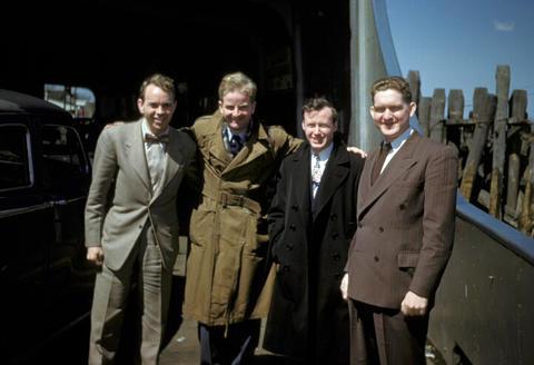 Rarymond E. Oliver, Yon Harris, John Knibb, Frank Beach  - 1950