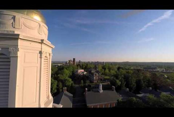 Sterling Divinity Quadrangle from the air