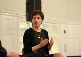 Melissa Rogers speaks at a YDS event