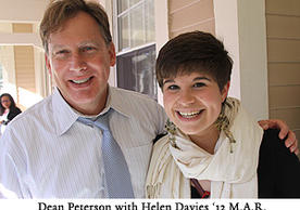Dean Peterson with Helen Davies