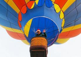 Registrar Lisa Huck hot-air balooning